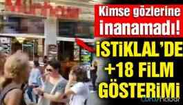 İstanbul'un en kalabalık caddesinde müstehcen görüntüler!
