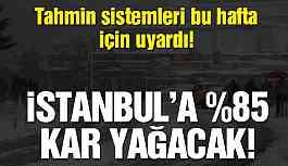 Tahmin sistemleri uyardı! İstanbul'a yüzde 85 kar yağacak!
