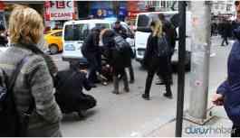 Kızılay'ın önünde Ensar Vakfı'na para aktarılmasını protesto eylemine müdahale