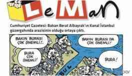 LeMan dergisinin damatlı Kanal İstanbul kapağına yasak!