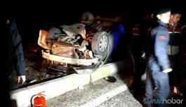 Feci kaza! Yolcu otobüsü ile otomobil çarpıştı: 3 ölü 2 yaralı