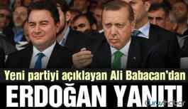 Ali Babacan'dan 'Erdoğan' sorusuna flaş yanıt!