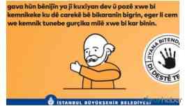 İBB'den Kürtçe afiş ve anons