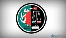 Başsavcılık'tan Ankara Barosu'na soruşturma