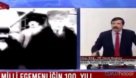 TİP Genel Başkanı Erkan Baş 'tek adam' dedi, TV'ler canlı yayını kesti