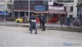 AKP önündeki eyleme gözaltı