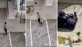 Polis çocukları silahla kovaladı