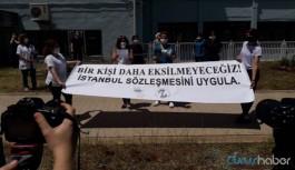 Hastanede kadına şiddet protestosu
