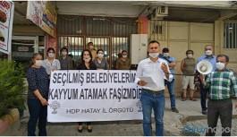Kayyım atamaları protestosu edildi