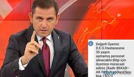Portakal paylaştı: AKP'li başkan parti üyelerine devlet hastanesi için iş ilanı göndermiş