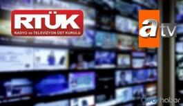 ATV için şikayet sayısı 90 bin, RTÜK'te görüşülen dosya sayısı sıfır