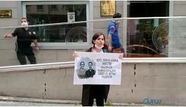 Avukat Aytaç ve Timtik için Adalet Bakanlığı önünde eylem