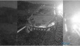 Devrilen otomobildeki bebek hayatını kaybetti