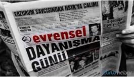 Evrensel Gazetesi'ne 45 gün ilan kesme cezası