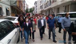 HDP yağmurdan etkilenen yurttaşları ziyaret etti