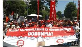 İşçiler kıdem tazminatı için eyleme geçiyor