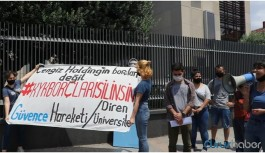 KYK borçlusu öğrenciler Cengiz Holding önünden seslendi