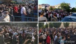 LGS sınavında endişelendiren görüntüler: Binlerce öğrenci, veli ve öğretmen bir araya geldi