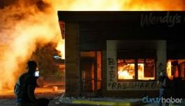 Rayshard Brooks'un öldürüldüğü restoran ateşe verildi