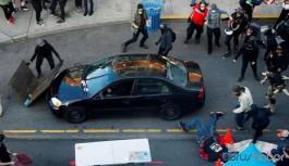 ABD'de gerginlik devam ediyor: Protestocuların arasına giren araçtan ateş açıldı