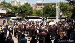Ankara'da avukatlar 'Büyük Savunma Mitingi' öncesi toplandı