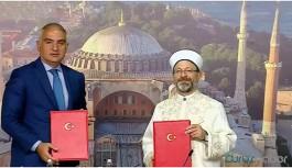 Ayasofya için iş birliği protokolü imzalandı