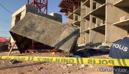 Elazığ'da deprem konutları şantiyesindeki iskele çöktü: Çok sayıda yaralı
