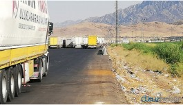 Habur Sınır Kapısı'nda araç geçişleri durdu