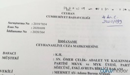 'İddianamede AKP'li Çelik'in isminin başına 'sayın' yazıldı: Hukukun geldiği içler acısı hal'