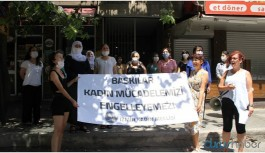 İzmir'de gözaltı protestosu