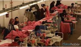 Koronavirüs nedeniyle tekstil fabrikasında üretim durduruldu