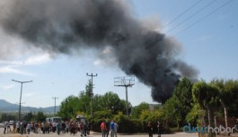 Ayakkabı fabrikasında yangın sonrası patlama