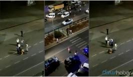 Bekçi boynuna bastı, polis tekme attı
