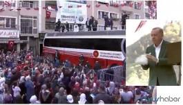 Erdoğan sel için gittiği Giresun'da çay dağıttı