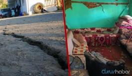 Malatya'daki depremin ardından yarıklar oluştu