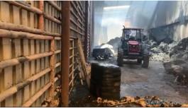 Bismil'de yağ fabrikasında yangın