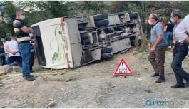 İşçileri taşıyan araç devrildi: 2 ölü, 9 yaralı