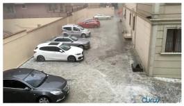 İstanbul'da sağanak ve dolu yağışı