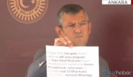 CHP'li Özel: Saray Kılıçdaroğlu'ndan test istedi