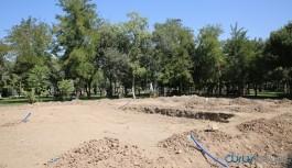 Yılmaz Güney Sineması süs havuzu yapılıyor