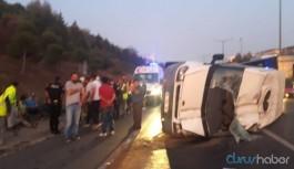4 işçi servisi kaza yaptı: Çok sayıda yaralı