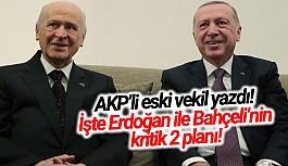 AKP'li eski vekil Erdoğan ile Bahçeli'nin kritik 2 planını yazdı