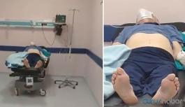 Hastanede skandal görüntüler: Sesini sosyal medyadan duyurdu