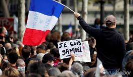 Paris'te başı kesilen öğretmen Samuel için binler sokağa çıktı