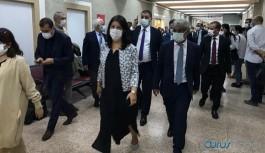 Pervin Buldan ve Mithat Sancar Meclis'teki eylemin ardından adliyeye geçtiler
