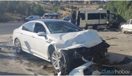 Servis aracı ile otomobil çarpıştı: 13'ü işçi 15 kişi yaralandı