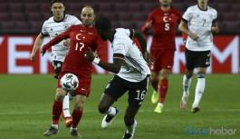 Türkiye ve Almanya özel maçı berabere bitti