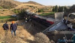 Yozgat'ta tren kazası: 2 makinist yaralandı
