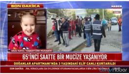 İzmir'de 65 saat sonra bir mucize daha! 3 yaşındaki Elif Perinçek canlı olarak kurtarıldı