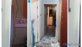 İzmir'de depremde hasar görmüş hastanede tedavi